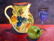 Terra Paintings - Spanish Sangria by Maria Soto Robbins