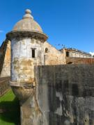 Puerto Rico Photo Posters - Spanish Sentry Post of San Cristobal Fort San Juan Puerto Rico Poster by George Oze