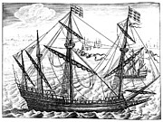 Merchant Ship Prints - SPANISH SHIP, c1595 Print by Granger