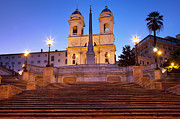 Early Prints - Spanish Steps Dawn Print by Brian Jannsen