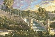 Steps Painting Originals - Spanish Steps by Jose Rodriguez