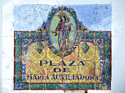 Pueblo Blanco Metal Prints - Spanish street sign Metal Print by Rod Jones