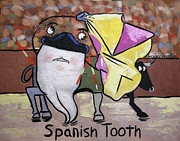 Cubism Mixed Media Posters - Spanish Tooth Poster by Anthony Falbo