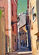 Spain Mixed Media - Spanish Town by Sarah Loft