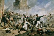 Ruins Metal Prints - Spanish uprising against Napoleon in Spain Metal Print by Joaquin Sorolla y Bastida
