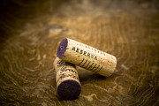 Macro Prints - Spanish wine corks - Reserva and Gran Reserva Print by Frank Tschakert