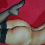 Oil Paintings - Spank Me by Jindra Noewi