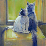 Cats Originals - Spanky and BooBoo by Donald Maier