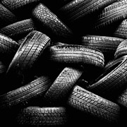 Black Top Posters - Spare Tires Poster by Margherita Wohletz