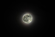 Man-in-the-moon Photo Prints - Sparkle Moon Print by Paul Mashburn