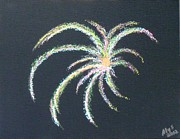 4th Of July Paintings - Sparkler by Alys Caviness-Gober