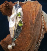 Signed Piece Jewelry - Sparkling Leaf by Deborah Haste
