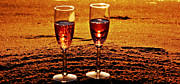 Sparkling Wine Mixed Media Posters - Sparkling Toast Poster by Angela Pari  Dominic Chumroo