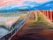 Reno Nevada Painting Prints - Sparks Pier near Reno Nevada Print by Stanley Morganstein