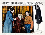 Atcmposterart Posters - Sparrows, Mary Pickford Center Poster by Everett