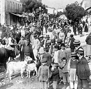 Crowd Scene Art - Sparta Greece - Street Scene - c 1907 by International  Images