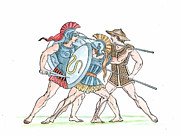 Sparta Prints - Spartan Military Costumes Print by Granger