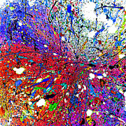 Acrylic On Canvas Board Paintings - Spatter Specks And Splashes by Charles Yates