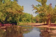 Reflection Digital Art - Spavinaw Creek by Jeff Kolker