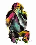Monkey Framed Prints - Speak No Evil Framed Print by Matt Truiano