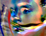Abstract Impressionism Digital Art Prints - Speak No Evil Print by Terril Heilman