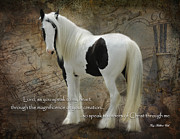 Equine Digital Art Posters - Speak to My Heart Poster by Terry Kirkland Cook