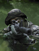 Head Above Water Posters - Special Operations Forces Soldier Poster by Tom Weber