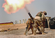 Artillery Framed Prints - Specialist Fires A 120mm M120 Mortar Framed Print by Stocktrek Images