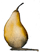 Pears Digital Art Framed Prints - Speckled Pear Framed Print by Jani Freimann