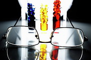 Variation Art - Spectacles and colorful test tubes by Sami Sarkis