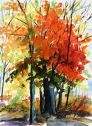 Autumn Landscape Drawings Framed Prints - Spectacular Framed Print by John  Williams
