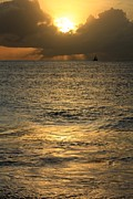 Tropical Sunset Framed Prints - Spectacular Sunset Framed Print by Sophie Vigneault