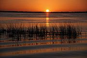 Sunset On The Lake Prints - Spectacular Sunset Print by Susanne Van Hulst