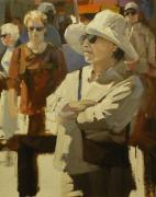 Crowds Painting Originals - Spectators by David Simons
