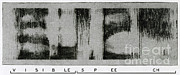 Spectral Framed Prints - Spectrogram Of The Word Visible Speech Framed Print by Science Source