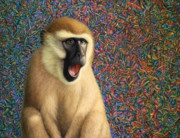 Monkey Paintings - Speechless by James W Johnson