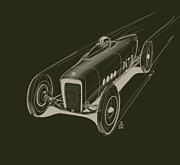 Automobile Drawings Posters - Speed Poster by Jeremy Lacy