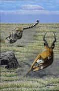 Gazelle Paintings - Speed Kills by Dan Devine
