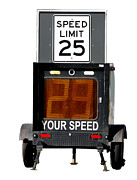 Police Traffic Control Framed Prints - Speed Limit Monitor Framed Print by Olivier Le Queinec