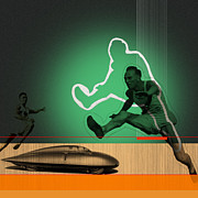 Athletics Prints - Speed Monsters Print by Irina  March
