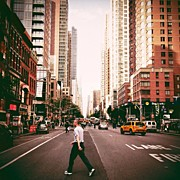 Landscapes Posters - Speed Of Life - New York City Street Poster by Vivienne Gucwa