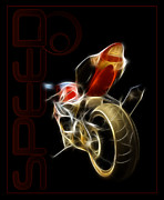 Different Digital Art - Speed by Ricky Barnard