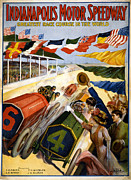 Charles Shoup Mixed Media - Speedway by Charles Shoup