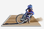 Out Of Bounds Acrylic Prints - Speedway Racing Acrylic Print by Alice Gosling