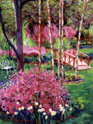 Park Benches Painting Posters - Spellbound Color Impressions Poster by David Lloyd Glover