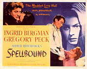 Ingrid Framed Prints - Spellbound, Ingrid Bergman, Gregory Framed Print by Everett