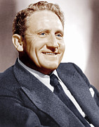 Incol Framed Prints - Spencer Tracy, Ca. 1940s Framed Print by Everett