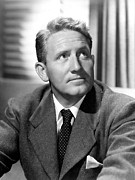 Venetian Blinds Prints - Spencer Tracy, Early 1940s Print by Everett