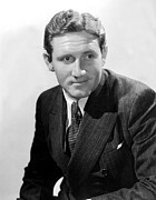 Pinstripe Suit Posters - Spencer Tracy, Mid-1930s Poster by Everett