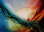 Macrocosm Painting Framed Prints - Sphere Gl2 Framed Print by Drazen Pavlovic